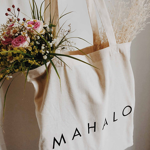 """MAHALO"" Canvas Bag"