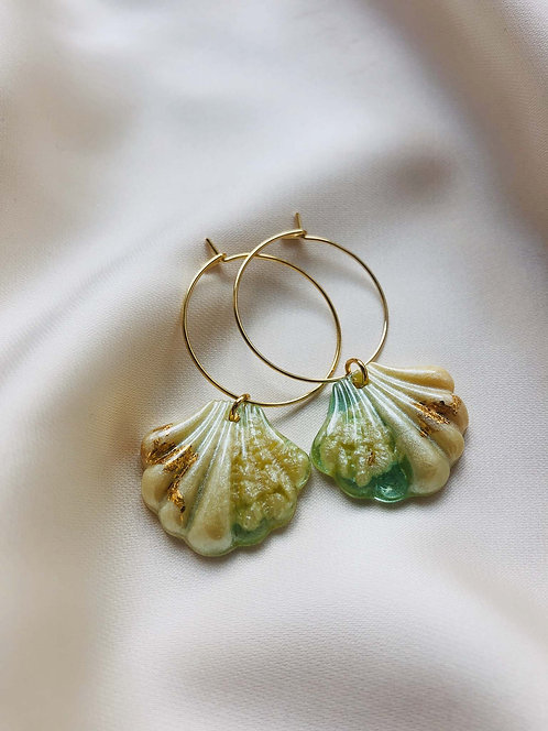 """Shell"" filigree Hoops"