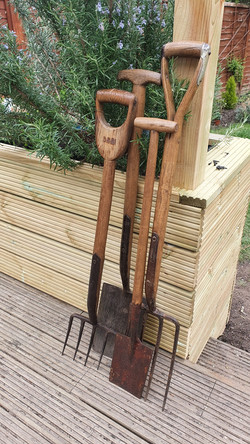 Sourced vintage garden tools