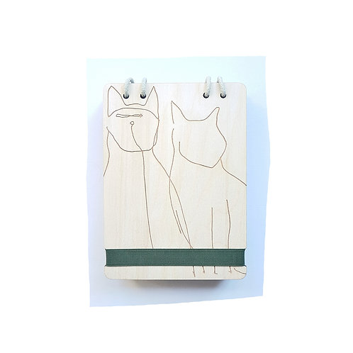 A5 CATS WAXED NATURAL BIRCH PLYWOOD REFILLABLE NOTEBOOK