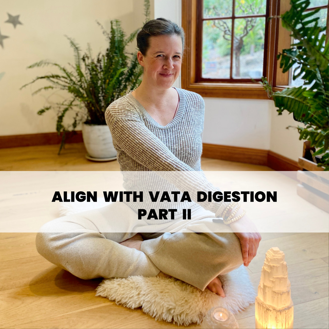 ALIGN WITH VATA DIGESTION (PART II)