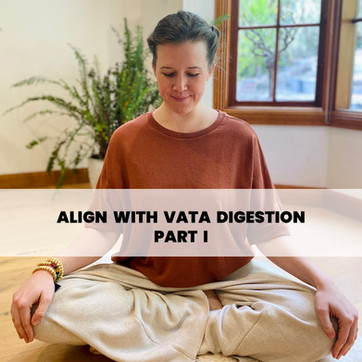 ALIGN WITH VATA DIGESTION (PART I)