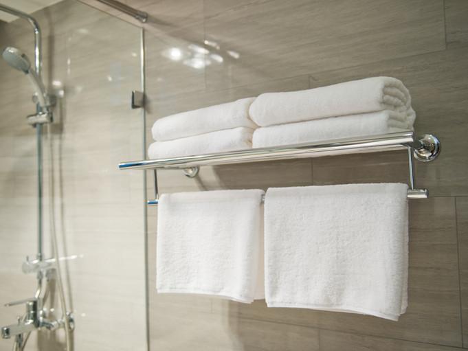 Hoteltücher im Badezimmer