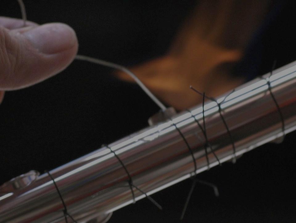 Процесс установки тоновых колец