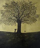 arbre, oiseaux, peinture, garance Monziès, voie férrée, connexions,