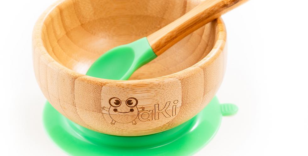 Set castron si lingurita din bambus Oaki