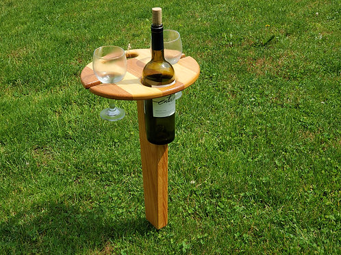 Wine Picnic Table in Oak and Maple