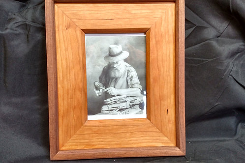 Picture Frame with Wood Mat