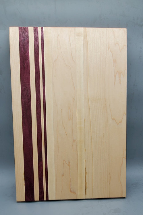 Maple Cutting Board with Purple Heart Accents