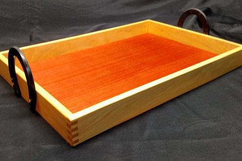 Horseshoe Handled Maple Serving Tray
