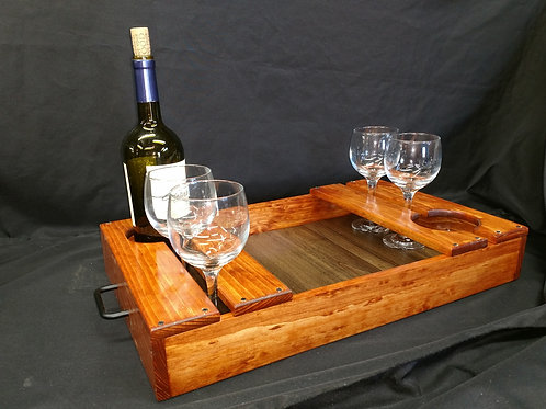 Pine Wine Server Tray