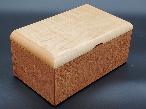 Keepsake Box with Sapelle and Curly Maple