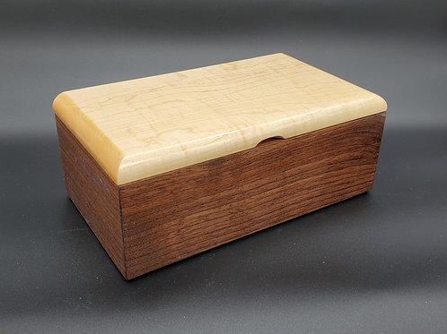 Walnut and Curly Maple Keepsake Box