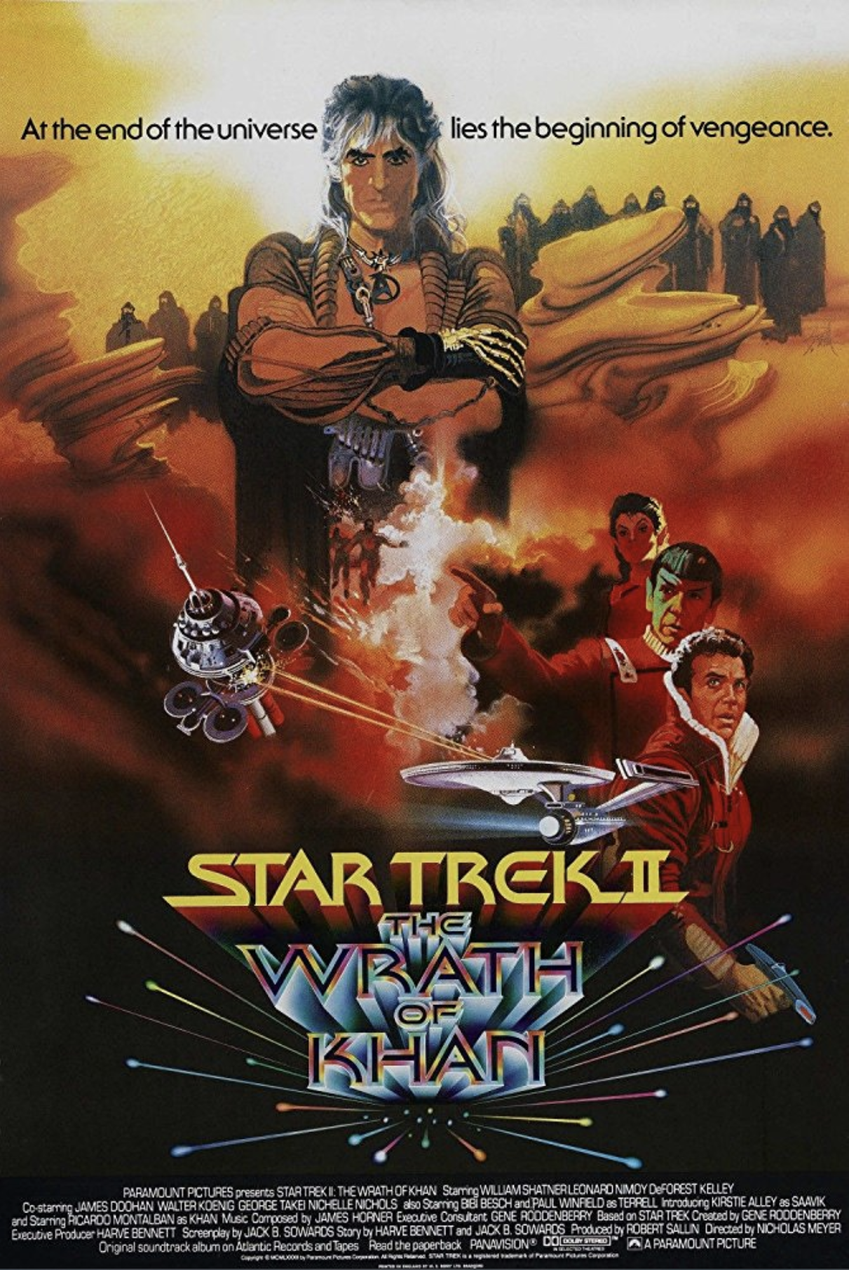 1982 Star Trek ll The Wrath of Kahn writ