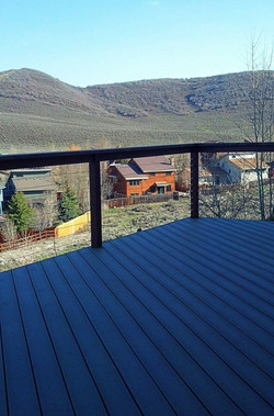 Composite decking and handrail
