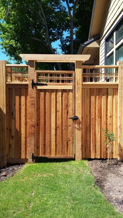Cedar fencing and gate