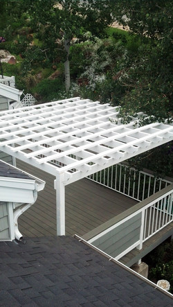Composite decking and trellis