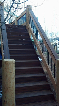 Composite stairs and handrail