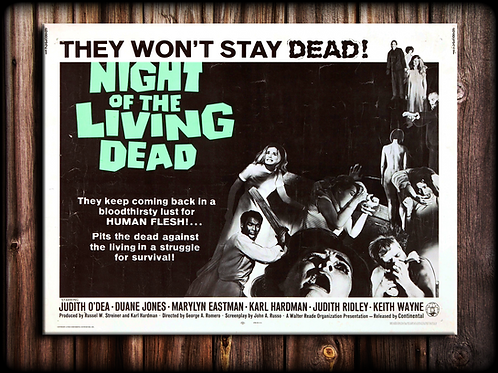 NIGHT OF THE LIVING DEAD canvas (STAY DEAD)