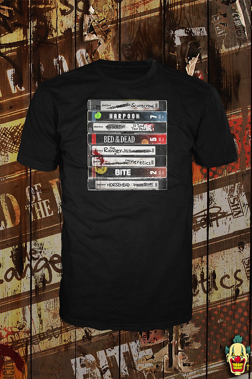 VHS STACK T-SHIRT (BLACK FAWN DISTRO)