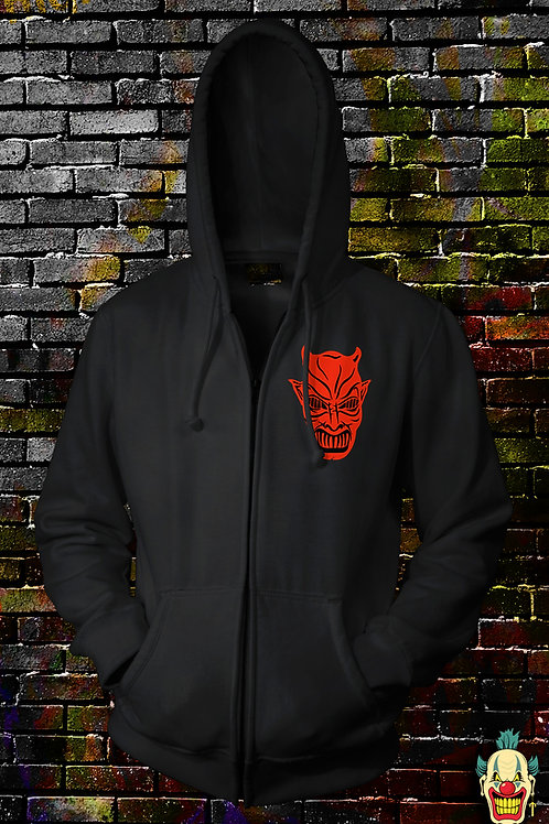 DEMONS 2 zip up with Embroidered Logo
