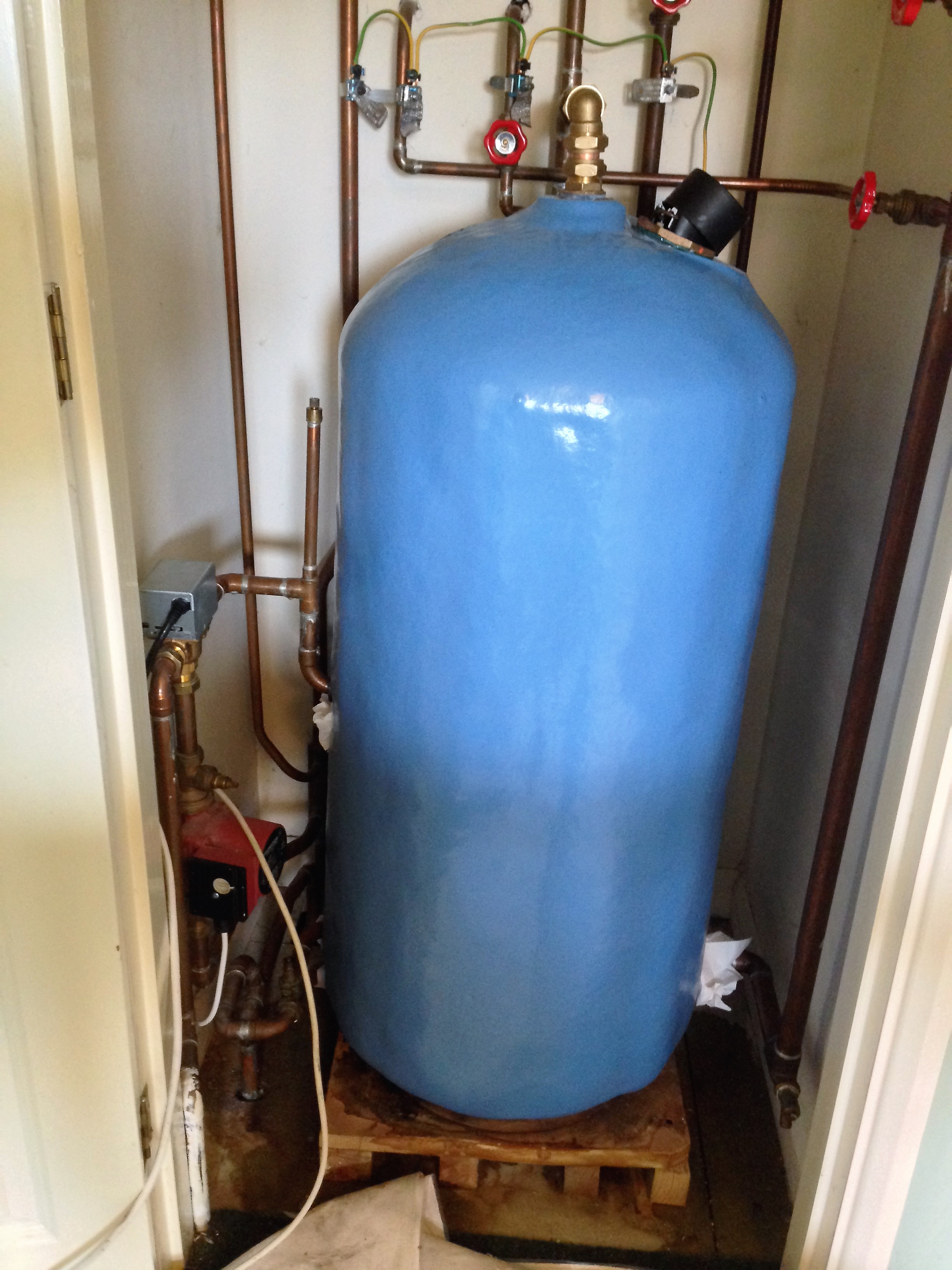 Old Stratford Plumbing Hot water Tank after