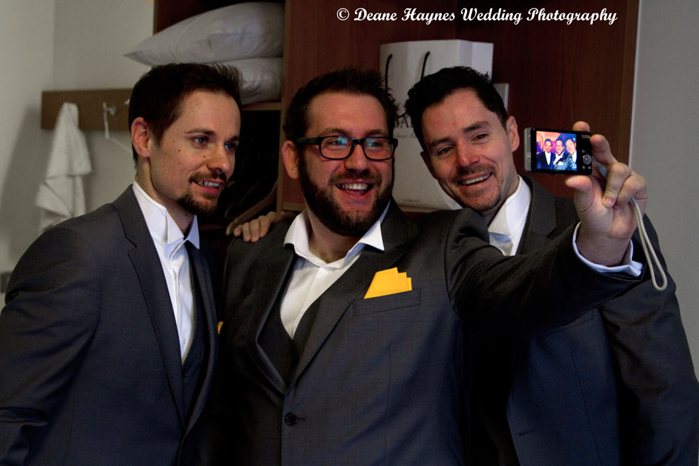 Grooms party taking a selfie!