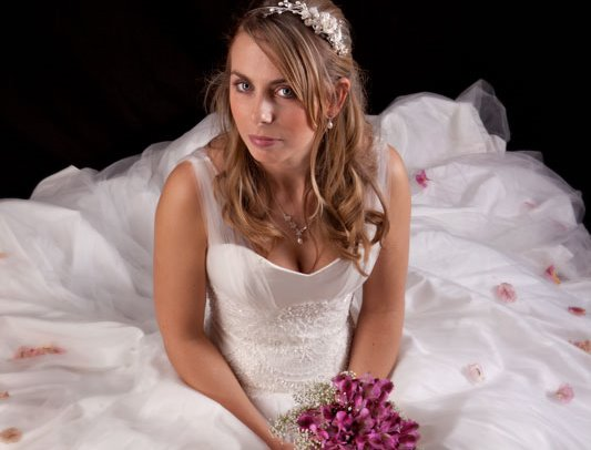 Studio image of our bride