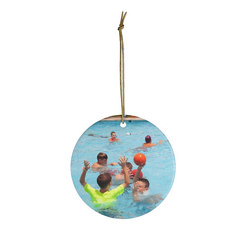 Swimming Christmas Ornament