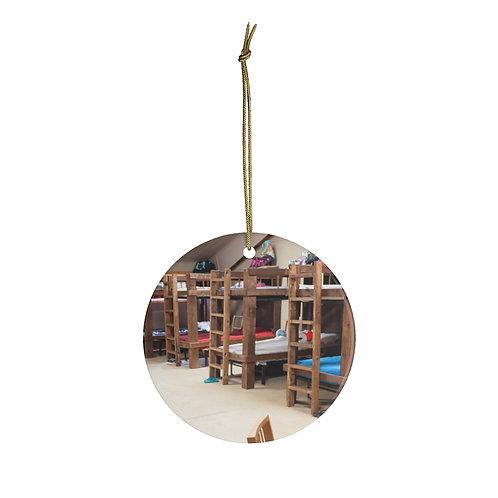 Cabin Christmas Ornament