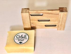 porte savon en bois naturel de teak