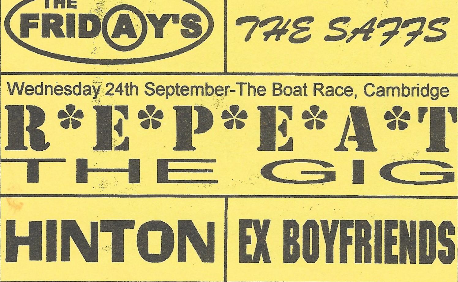 Boat Race Flyer