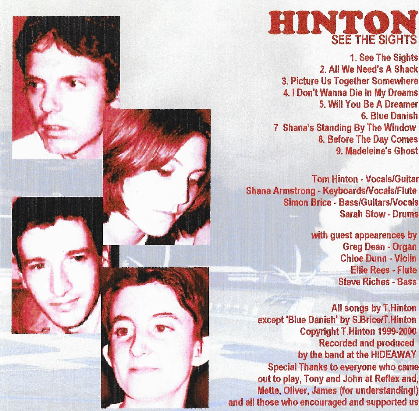HINTON See The Sights CD Inside Cover