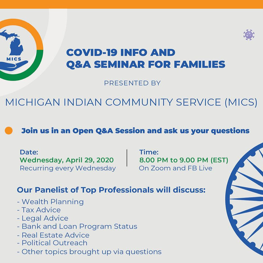 COVID-19 INFO AND Q&A SEMINAR FOR FAMILIES