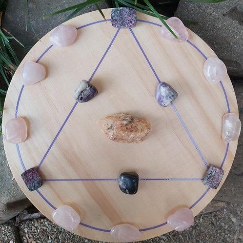 Self Love Crystal Grid