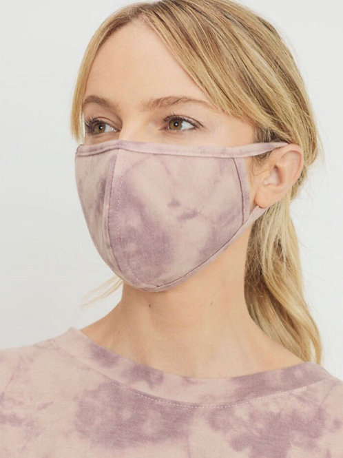 Mauve Fitted Mask