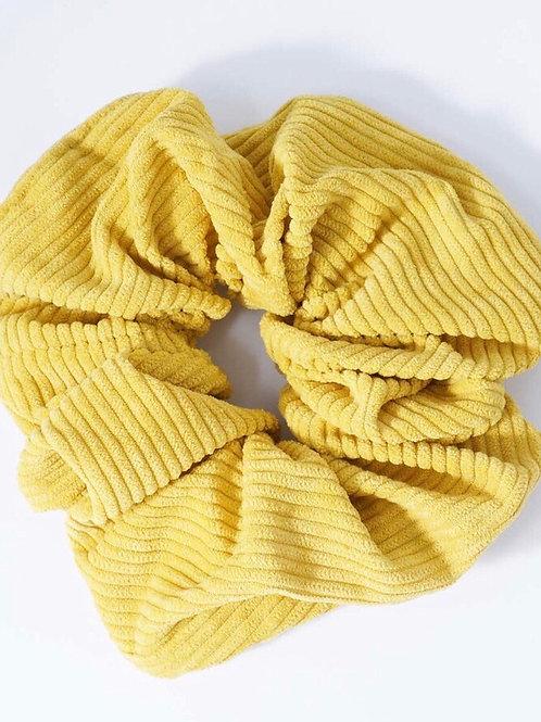 Sunshine Yellow Corduroy Scrunchie
