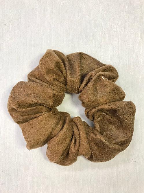 Brown Suede Scrunchie