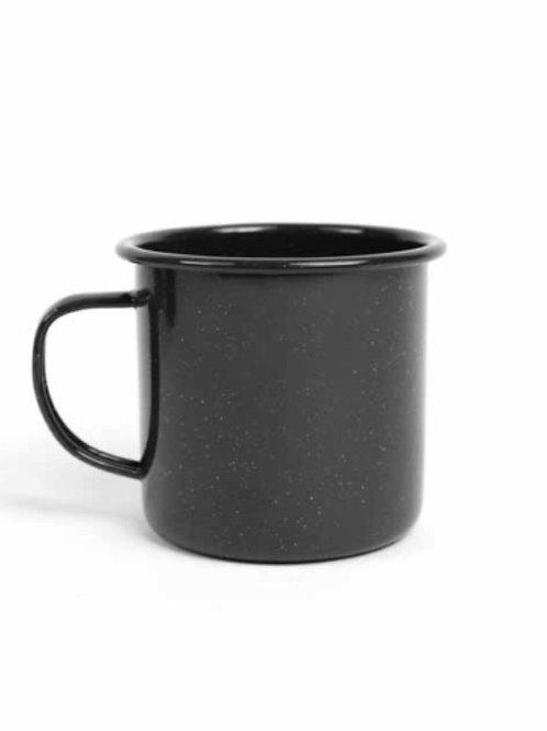 Black Speckled Metal Mug