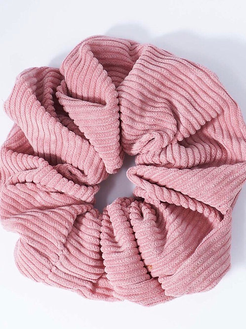 Dusty Rose Corduroy Scrunchie