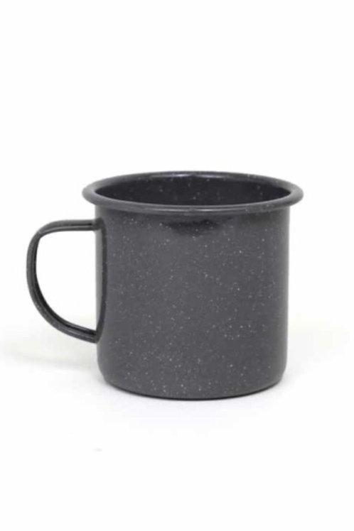 Grey Speckled Metal Mug