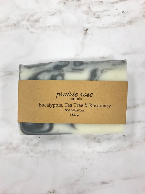 Eucalyptus, Tea Tree & Rosemary Soap Prairie Rose Naturals