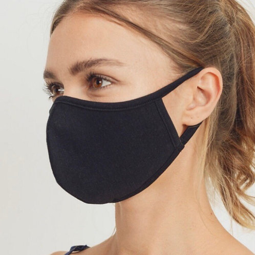 Black fitted mask