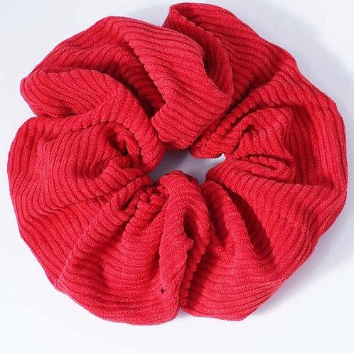 Red Corduroy Scrunchie