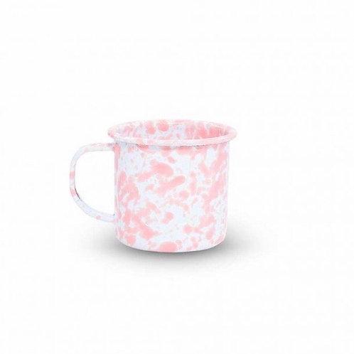 Pink Splatter Metal Mug