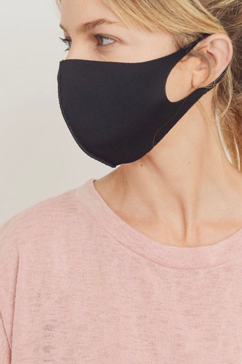 Thin black sport mask