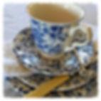 vintage crockery high tea