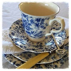 vintage crockery high tea