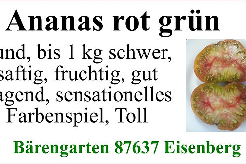 Tomaten groß - Ananas Rot Grün