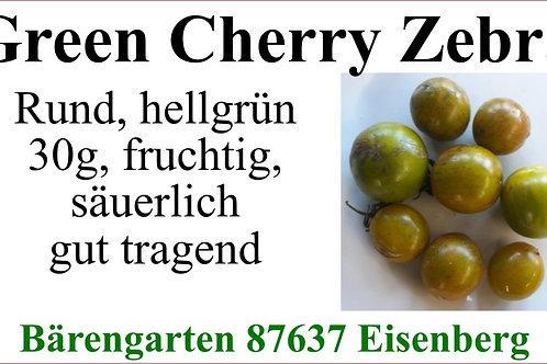 Tomaten klein - Green Cherry Zebra
